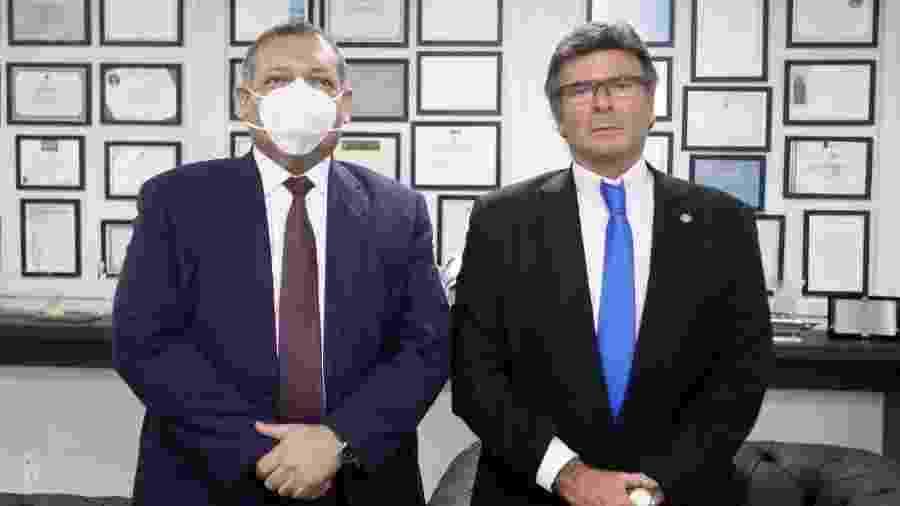 Kassio Marques (esq.) se encontrou com o presidente do STF, Luiz Fux, para definir a data da posse - Fellipe Sampaio/STF/Divulgação