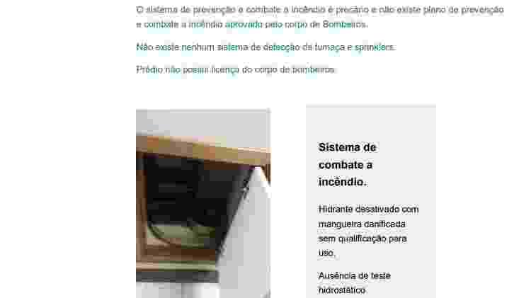 28.out.2020 - Relatório encaminhado ao Ministério da Saúde informa que não há plano de prevenção e combate ao incêndio no Hospital Federal de Bonsucesso, na zona norte do Rio, onde ocorreu um incêndio que causou a morte de três pacientes - Reprodução - Reprodução