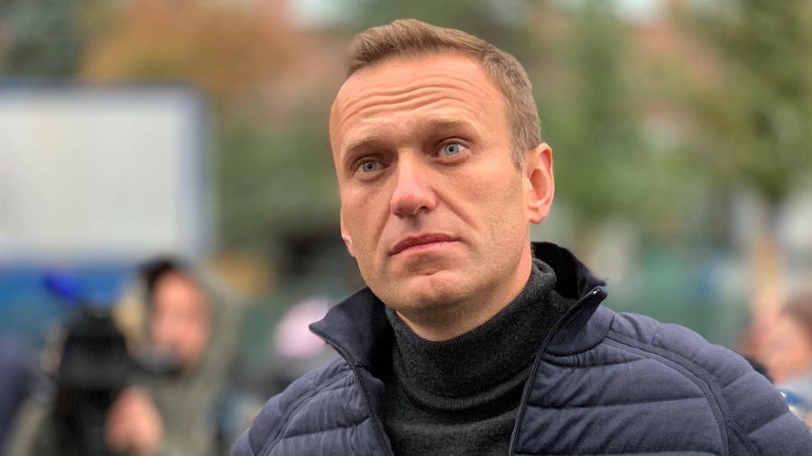 29.set.2019 - O líder da oposição russa Alexei Navalny participa de um comício em apoio a prisioneiros políticos na rua Prospekt Sachara em Moscou, Rússia - Sefa Karacan / Agência Anadolu via Getty Images