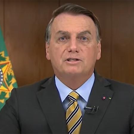 Jair Bolsonaro faz pronunciamento em rede de TV e rádio - Reprodução