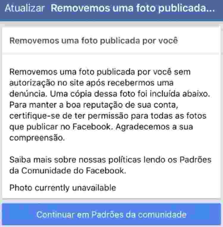 remoção foto eduardo bolsonaro facebook - Reprodução - Reprodução