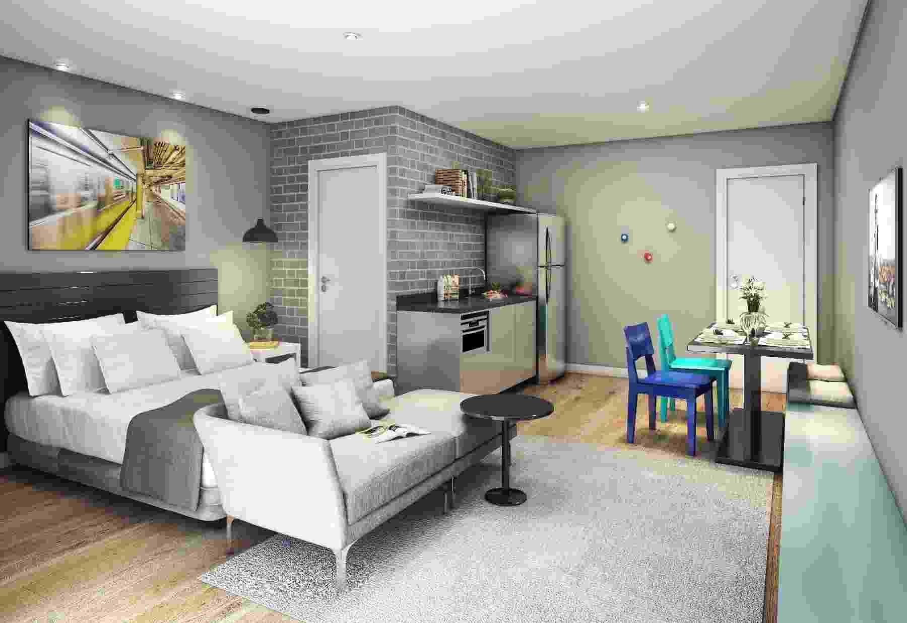 Apartamento compartilhado Gafisa - Divulgação