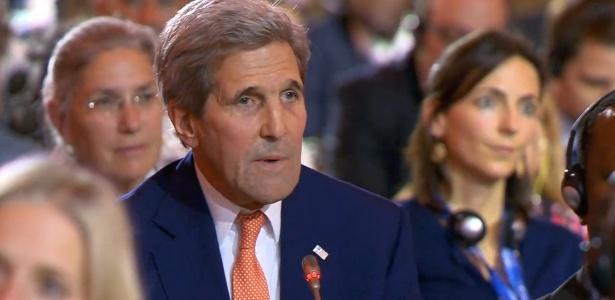 """""""É uma tremenda vitória, não de um país, mas do planeta"""", diz John Kerry - Reprodução"""