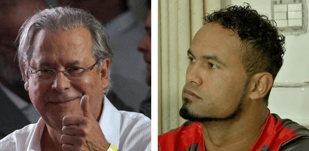 A prisão preventiva de José Dirceu (à esq.) foi suspensa enquanto Bruno Fernandes teve que voltar para a prisão