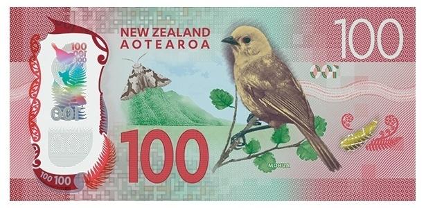 Nova Zelândia: O mohua ou yellowhead (cabeça amarela) está na nota de cem dólares neozelandeses