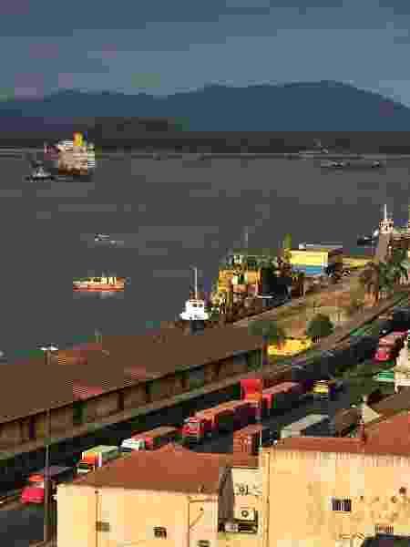 Porto de Santos em imagen de 2011 - Getty Images