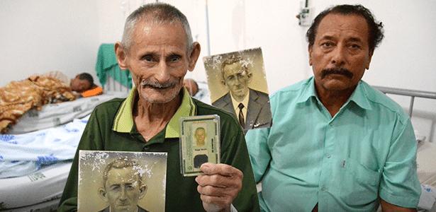Montagem mostra fotos dos dois irmãos, que se recuperam em leitos diferentes: Adolfo (à esq.), de 89 anos, e Antonio Teixeira da Silva, 64 - Arte/UOL sobre fotos de Beto Macário/UOL