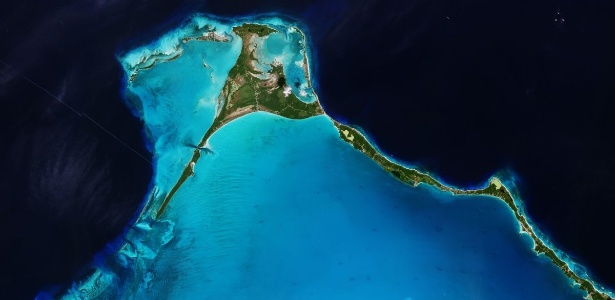 Imagem da Ilha do Ovo feita pelo satélite Sentinel-2B