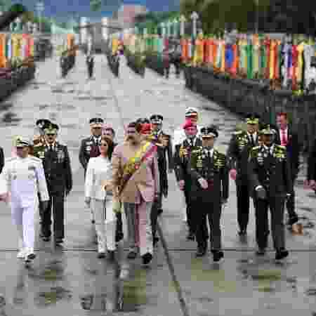 Líder da Venezuela, Nicolás Maduro, durante parada militar em Caracas  - Palácio de Miraflores/Arquivo