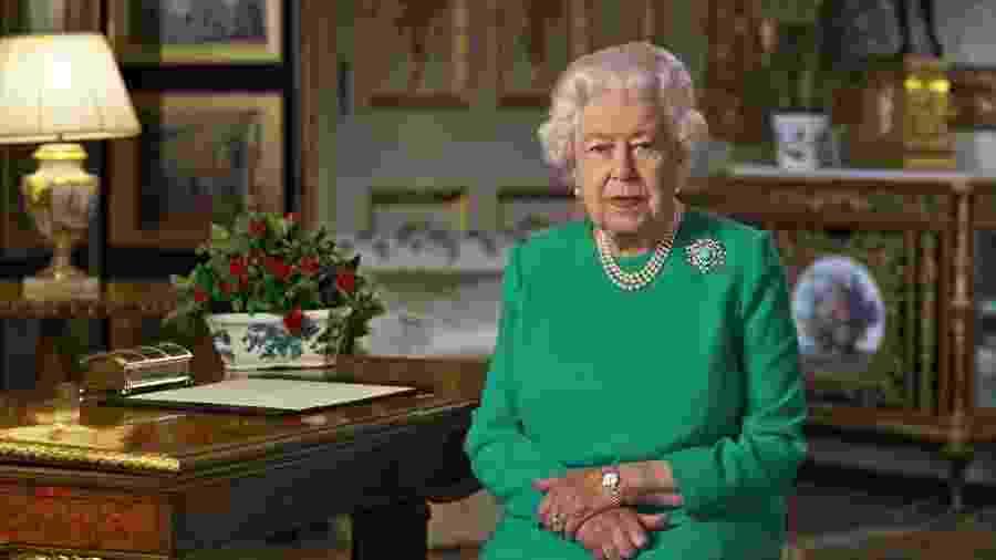 Rainha do Reino Unido Eizabeth 2ª fez um discurso à nação sobre a pandemia do novo coronavírus - Palácio de Buckingham via Reuters