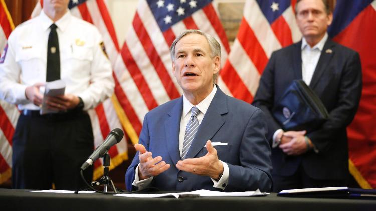 Greg Abbott, atual governador do Texas, seria concorrência de McConaughey em 2022 - Tom Fox-Pool/Getty Images - Tom Fox-Pool/Getty Images