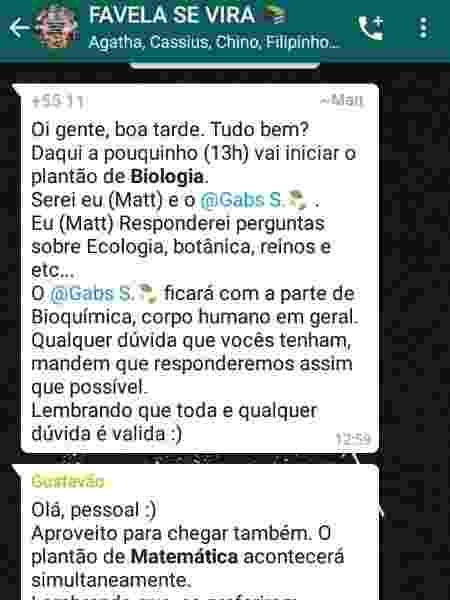 """Grupo de WhatsApp """"Favela Se Vira"""" - Reprodução - Reprodução"""