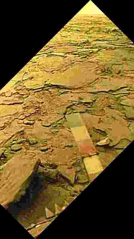 Imagem da missão Venera 14, que durou 57 minutos na superfície de Vênus - Russian Academy of Sciences/Ted Stryk - Russian Academy of Sciences/Ted Stryk