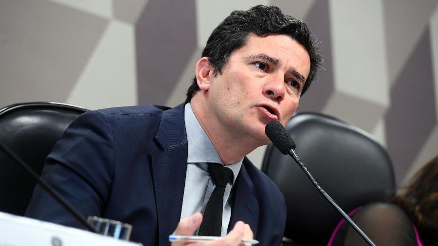 Sergio Moro defendeu general Santos Cruz de críticas de Olavo de Carvalho - Marcos Oliveira/Agência Senado