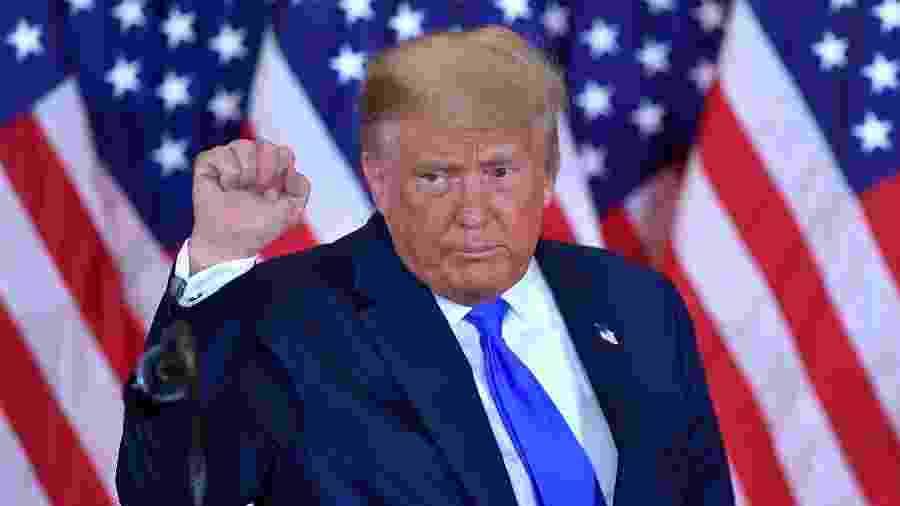 O presidente dos Estados Unidos, Donald Trump, na Casa Branca, no dia das eleições presidenciais - Mandel Ngan/AFP