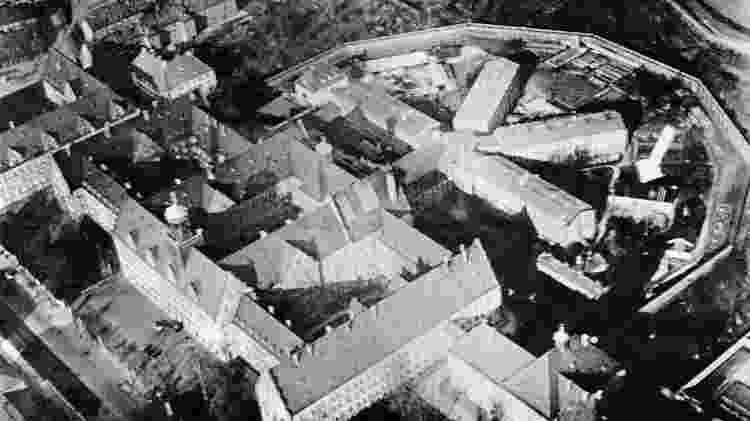 O Palácio da Justiça e a prisão de Nuremberg sobreviveram ao bombardeio dos Aliados - Getty Images - Getty Images