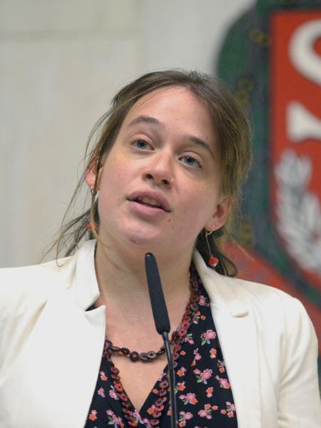 A deputada estadual Isa Penna (PSOL) na Alesp - José Antonio Teixeira/Alesp