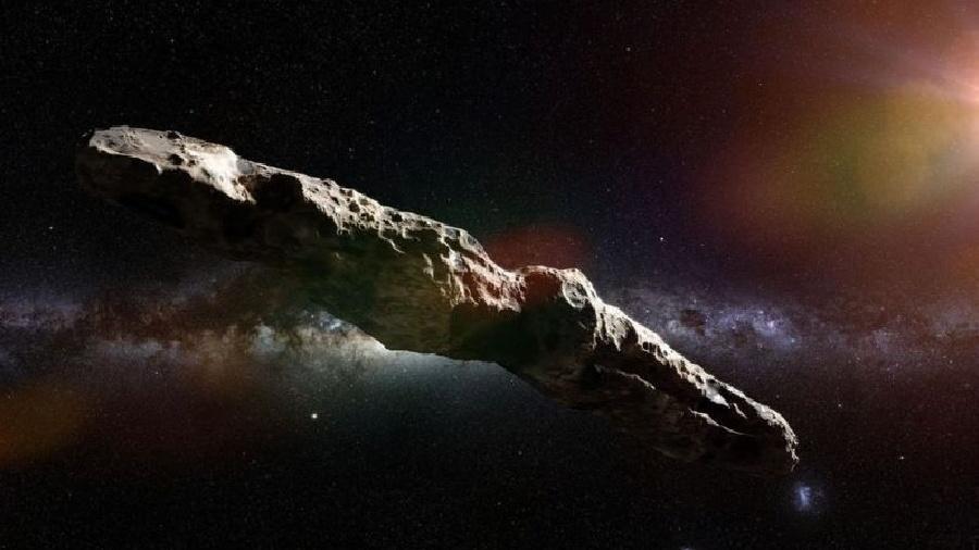 Ele emergiu do vazio celestial em outubro de 2017 - um pequeno ponto brilhante no telescópio do Observatório Haleakal?, no Havaí (Estados Unidos) - Alamy