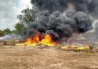 Incêndio destrói 40 cisternas de plástico do governo federal no Piauí - Divulgação/PM-PI