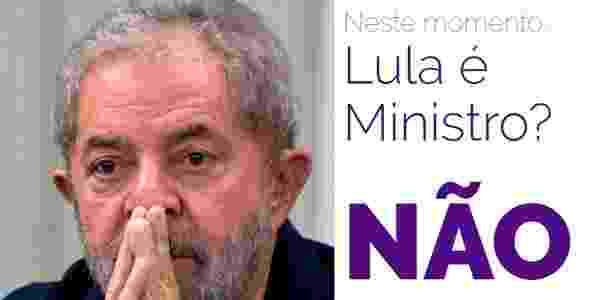 LulaMinistro - Reprodução - Reprodução