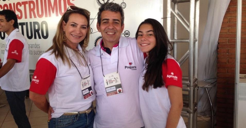 O empresário Darci Vargas com a esposa Sandra (à esq.) e a filha Samela. Ele é dono de seis unidades da franquia Prepara Cursos e também é coordenador das unidades que a rede tem no Rio de Janeiro. O Estado representa 20% do faturamento total da rede
