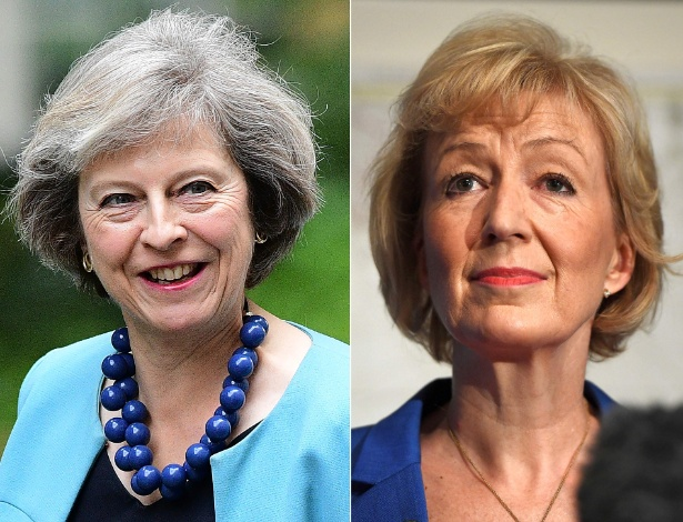 Theresa May (esquerda), ministra do Interior, e Andrea Leadsom, da Energia