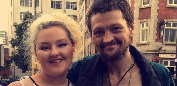 Jess Hickey e seu pai, que é morador de rua