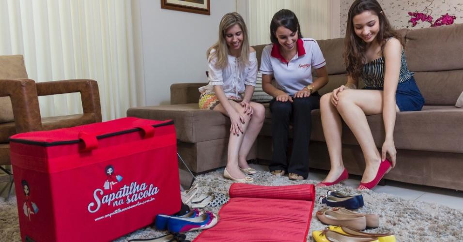 Franquia Sapatilha na Sacola, que faz venda direta de sapatos