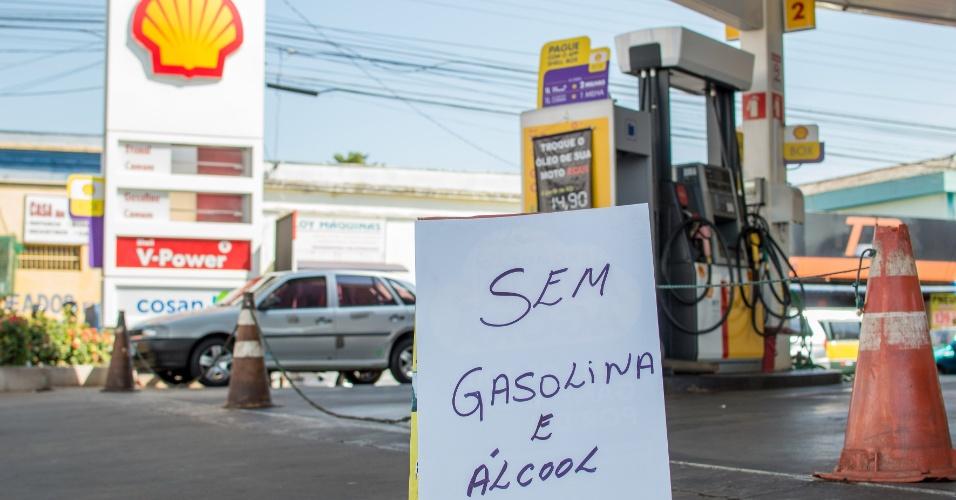 Paralisação dos caminhoneiros nesta sexta-feira (25) deixa posto sem combustível em Ribeirão Preto (SP)