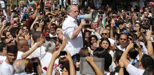 Ciro em campanha no parque do Ibirapuera, em SP, no dia 16 de setembro