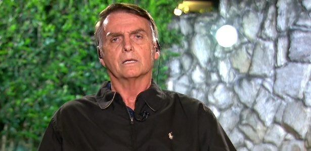 Jair Bolsonaro (PSL) em entrevista ao Jornal Nacional, da TV Globo
