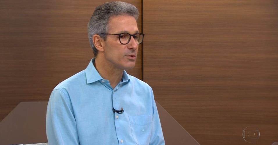 Romeu Zema, do Novo, concede entrevista após ser eleito governador de Minas