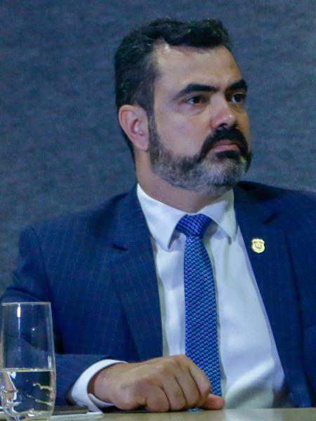31.jan.2019 - Luciano Flores de Lima, superintendente regional da PF, durante coletiva sobre a Operação Quinto Ano, 59ª fase da Lava Jato - Eduardo Matysiak/Estadão Conteúdo
