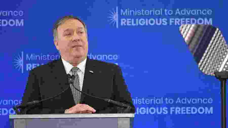 Secretário de Estado dos EUA, Mike Pompeo anuncia criação de órgão internacional para garantir liberdade religiosa - Mandel Ngan/AFP