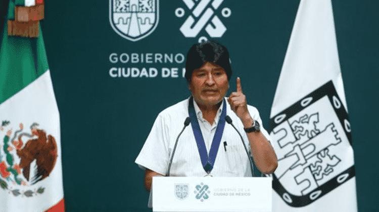 Evo Morales, exilado no México, descreveu Áñez como 'presidente autoproclamada' - Getty Images