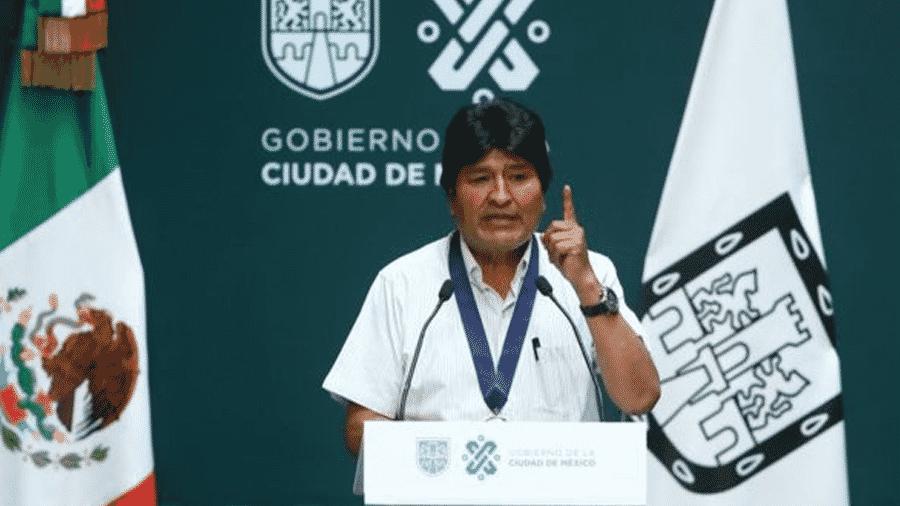 """Evo Morales, exilado no México, descreveu Áñez como """"presidente autoproclamada"""" - Getty Images"""