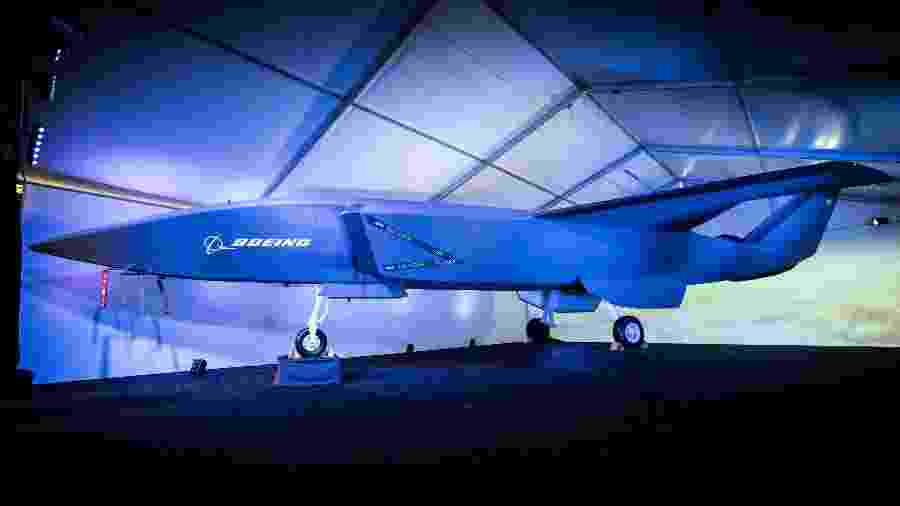 O Airpower Teaming System, caça autônomo desenvolvido pela Boeing em parceria com a Austrália - Boeing/Divulgação
