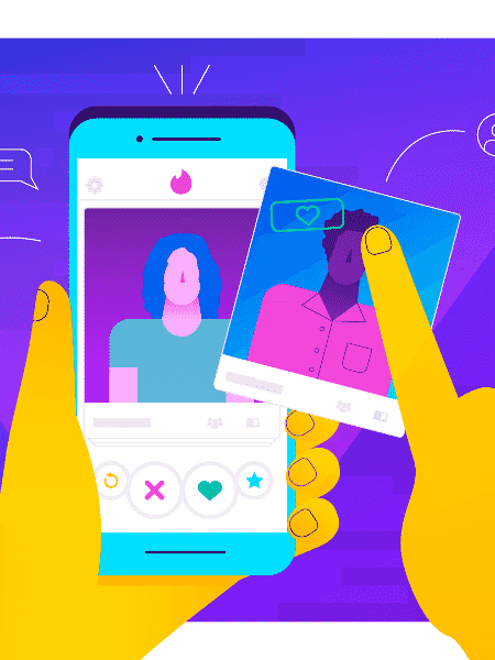 Aplicativos de encontros online - Arte UOL