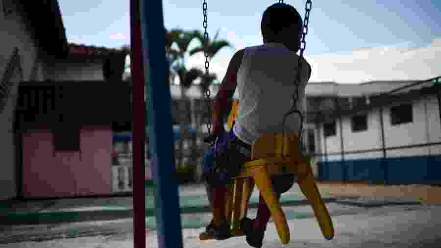 Criança em abrigo brasiliense, em foto de arquivo - Andre Borges/Ag. Brasilia