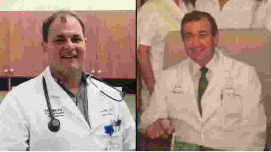 Médicos, pai e filho morreram com pouco mais de um mês de diferença - Reprodução/CBS4