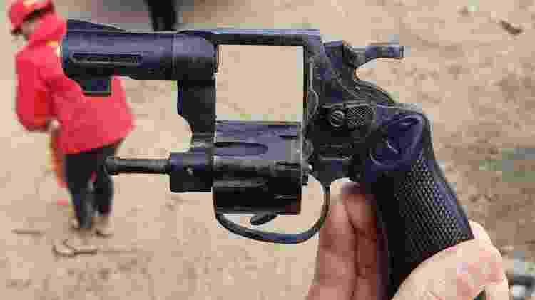 Testemunha disse para a polícia que a arma foi jogada no Rio Jaguarão - Divulgação/PC-RS - Divulgação/PC-RS