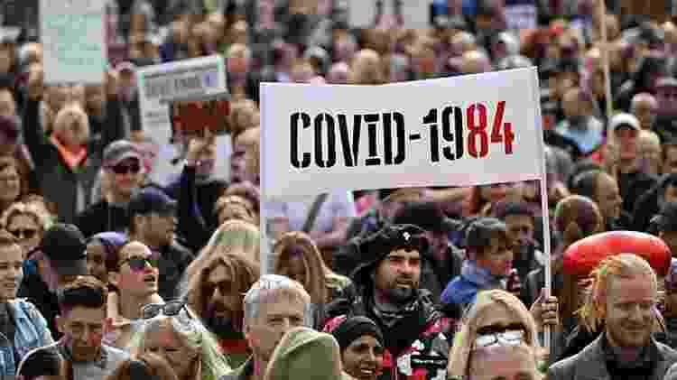 Cerca de 15 mil pessoas, segundo estimativas, participaram da manifestação - Getty Images - Getty Images