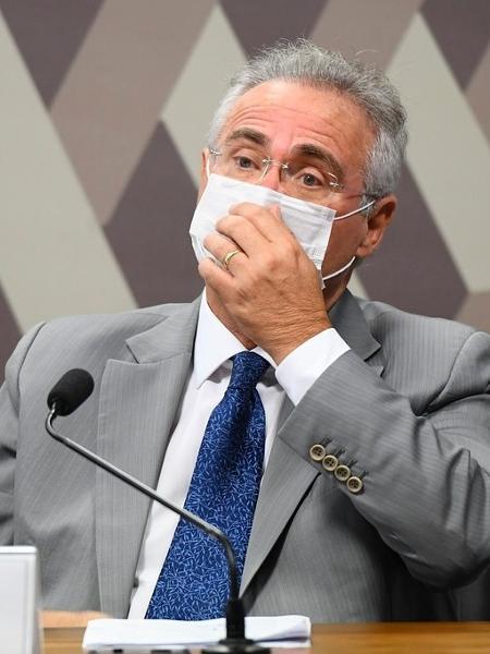 27.abr.2021 - Senador Renan Calheiros (MDB-AL), relator da CPI da Covid, na abertura dos trabalhos da comissão - Jefferson Rudy/Agência Senado