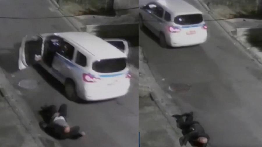 Taxista saltou do carro durante tentativa de assalto - Reprodução/TV Globo