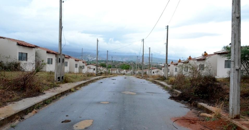 As casas que fazem parte do conjunto Brivaldo Medeiros foram construídas em uma área de 27 hectares
