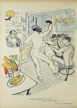 """Obra de Toulouse-Lautrec, """"Chocolat dansant dans un bar"""" (Chocolate dança em um bar)"""