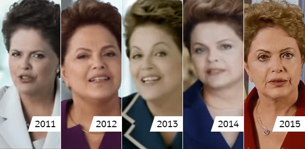 28.abr.2016 - Cinco momentos de Dilma Rousseff nos pronunciamentos de 1º de Maio