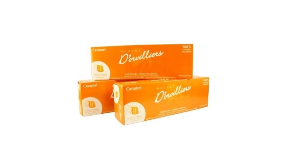 Madame D'orvilliers Caramel: R$ 15,90 - caixa com 10 unidades - Frete gratuito acima de R$100 para entregas no estado de São Paulo e nas cidades de Belo Horizonte, Curitiba, Florianópolis e Rio de Janeiro