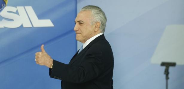 2.ago.2017 - presidente Michel Temer faz pronunciamento no Palácio do Planalto, em Brasília, após o plenário da Câmara dos Deputados rejeitar a denúncia por corrupção passiva contra ele, nesta quarta-feira