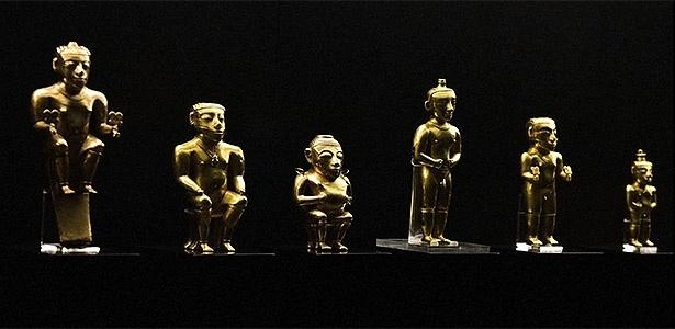 Os caciques Gold Quimbayas fazem parte da coleção arqueológica doada para a Espanha